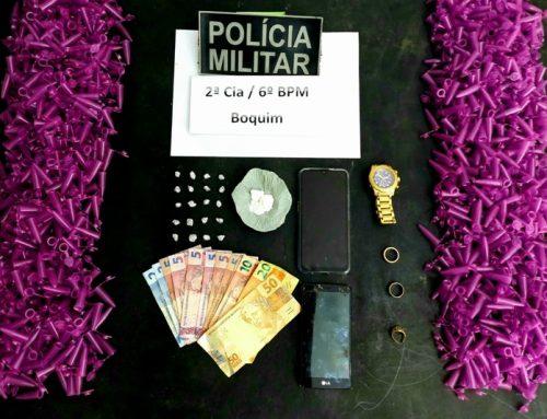 Polícia Militar prende dois suspeitos de tráfico de drogas na SE-282