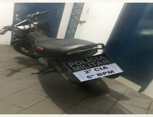 Polícia Militar recupera  motocicleta roubada na cidade de Arauá