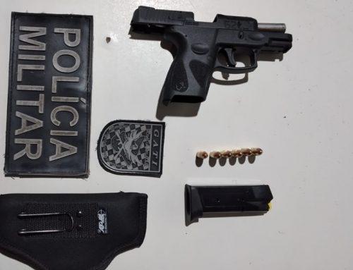 Polícia Militar apreende pistola 9mm com 6 munições em Umbaúba