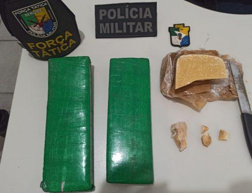 Policiais militares apreendem drogas em Lagarto