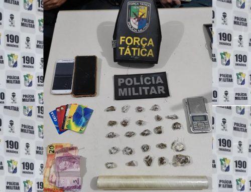 Polícia Militar prende casal por tráfico de drogas no São Conrado.